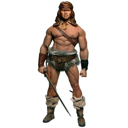 Conan the barbarian, Arnold Schwarzenegger (Limited edition, only 300 PCs worldwide) - Collectible FIGURINE 1/6 scale Conan the Barbarian, Arnold Schwarzenegger (LIMITED EDITION 300 pcs) (MC01-2019 + MC01-HEAD + PL2016-M34) - Kaustic Plastik