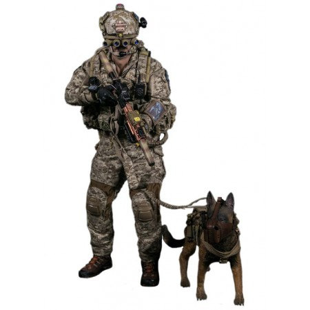DEVGRU soldier with a service dog - Collectible figurine 1/6 DEVGRU K9-handler in Afghanistan (DAM 78040) - DAMToys