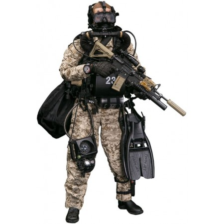 Combat swimmer - Collectible figurine 1/6 MARINE FORCE RECON COMBAT DIVER WOODLAND MARPAT VER (78056) - DAMTOYS