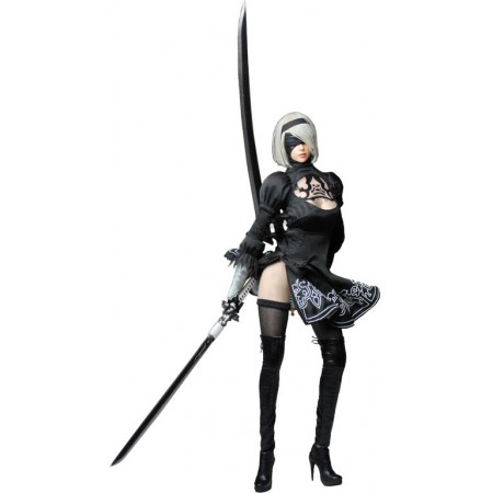 Android 2B - Nier: Automata Cosplay Sexy Robot Head Sculpt + Costume Set + Body (SET015) - SUPER DUCK