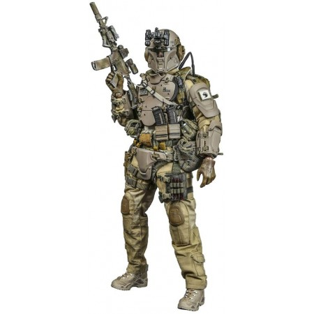 Galac-Tac Desert Raider Scale action figure - Green Wolf Gear