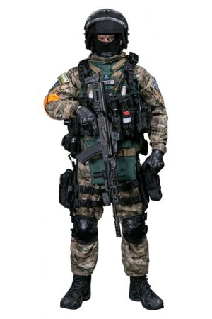 """The interior Ministry special forces SWAT """"damask"""" Collectible figure 1/6 scale RUSSIAN SPETSNAZ MVD SOBR - BULAT MOSCOW Action Figure (DAM 78066) - DAMTOYS"""