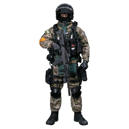 "The interior Ministry special forces SWAT ""damask"" Collectible figure 1/6 scale RUSSIAN SPETSNAZ MVD SOBR - BULAT MOSCOW Action Figure (DAM 78066) - DAMTOYS"