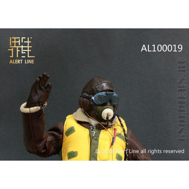 ALERT LINE 1:6TH SCALE WW2 BRITISH ROYAL AIR FORCE FIGHTER FLYING GLOVES