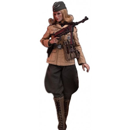 Officer Africa corps - COLLECTIBLE FIGURINE 1/6 scale Action figure Afrika Female officer (AL100026) - Alert Line